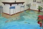 3-D наливной пол в кафе
