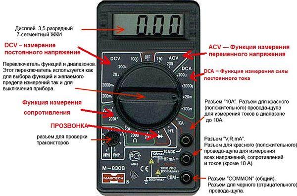 инструкция по эксплуатации мультиметра Dt-830в - фото 9