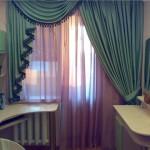 Двойные шторы на кухню фото
