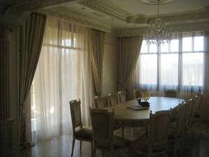Длинные красивые шторы на кухню фото