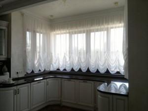 Тюль и шторы на кухню фото