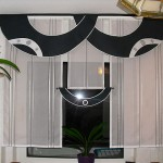 Черно белые шторы для кухни