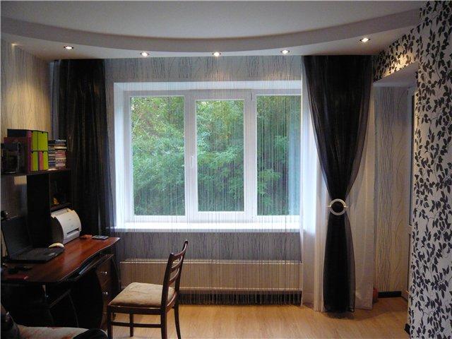 Дизайн штор нитей для зала