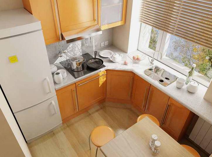 Ремонт на кухне хрущевка своими руками фото