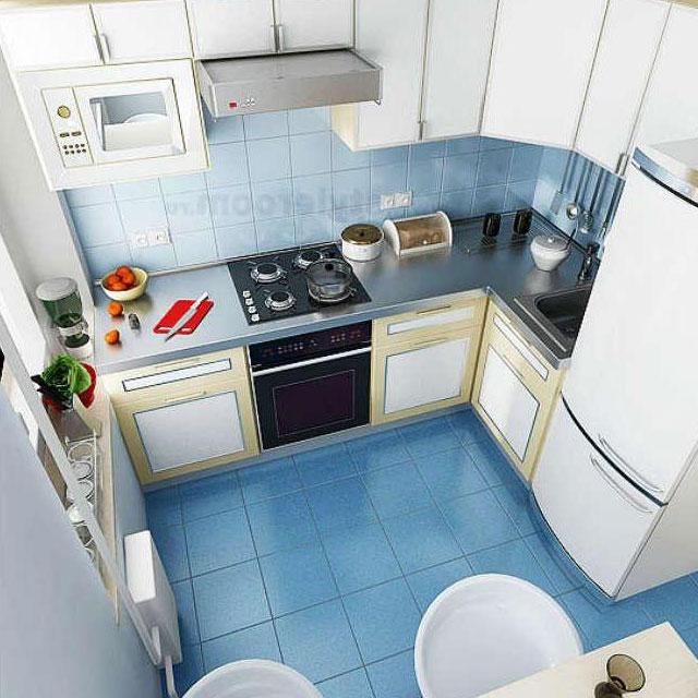 Кухня 8 квадратов дизайн хрущевка с холодильником