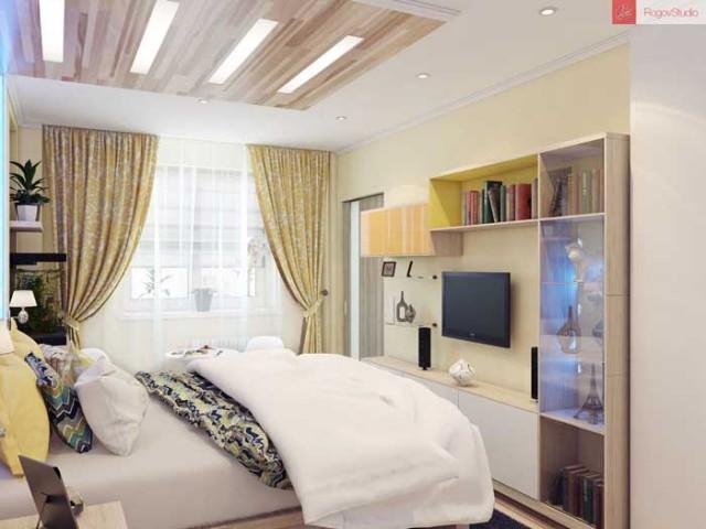 Дизайн комнаты 12 кв м фото