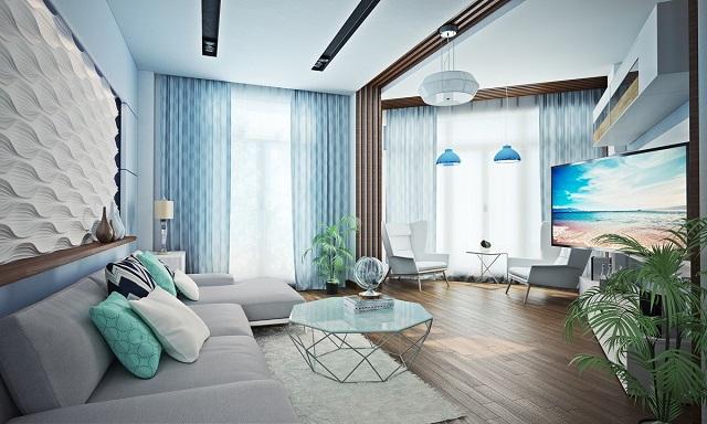 Дизайн интерьера квартиры в морском стиле