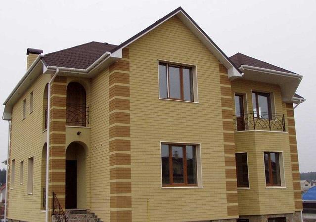 Мокрый фасад на примере дома
