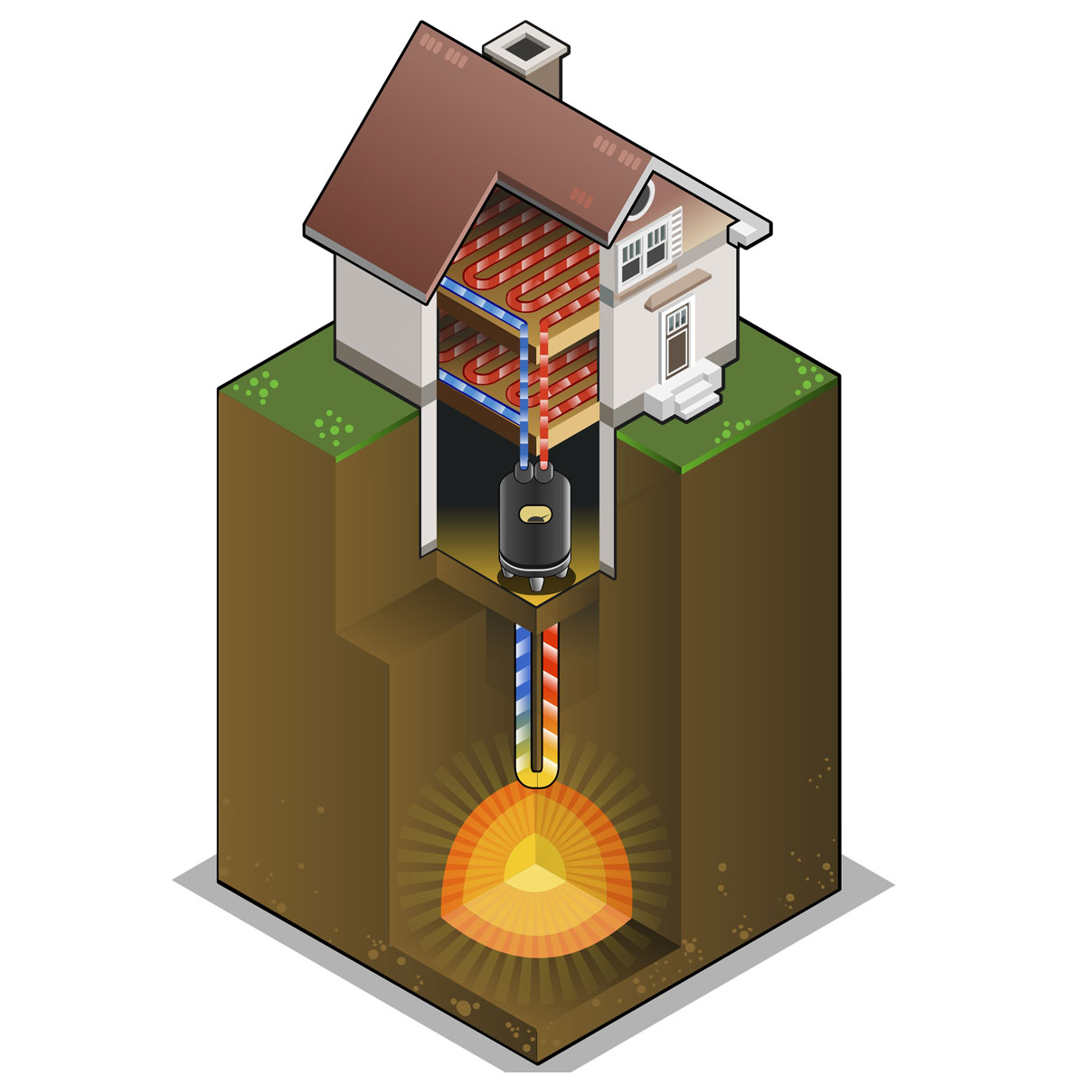 Отопление из под земли