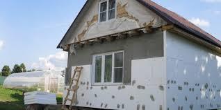 Утепление домов пенопластом