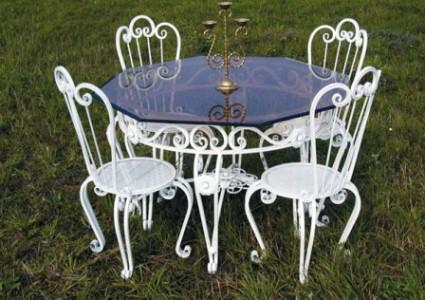 мебель кованая садовая