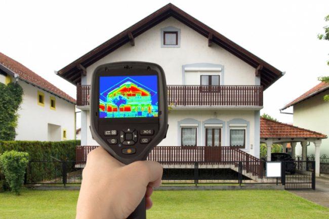 сканирование дома в инфракрасном спектре