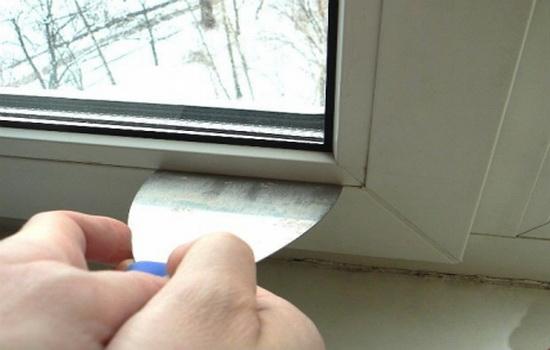снятие штапика с пластикового окна