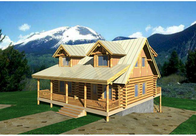 Каркасный дом в горах