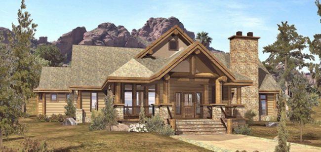 Массивный каркасный дом