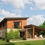 Необычный дизайн каркасного дома