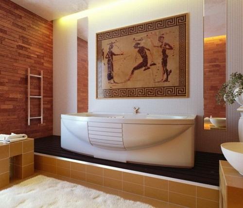 Этническая стилистика ванной комнаты