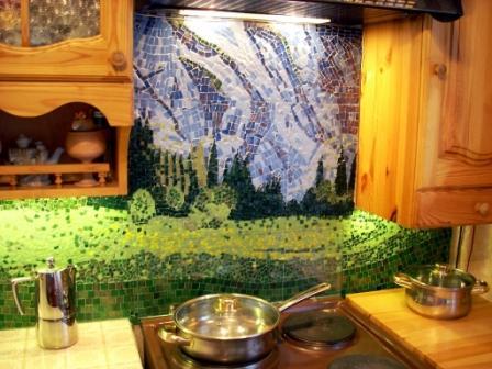 мозаика на кухне