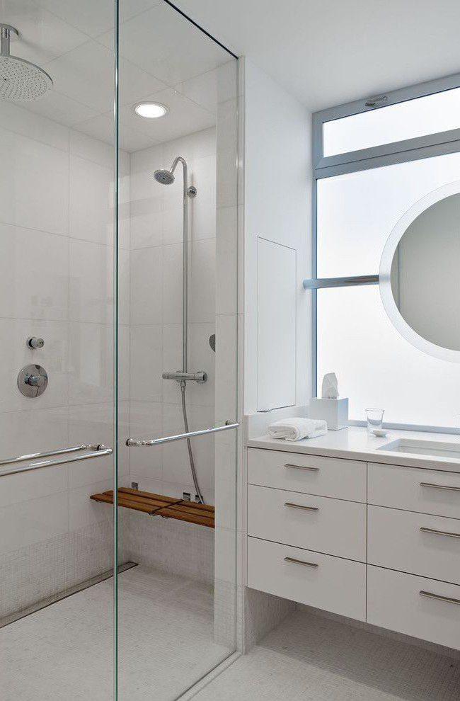 душевое ограждение в маленькой ванной