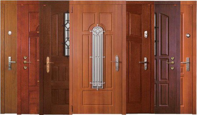 ассортимент входных дверей