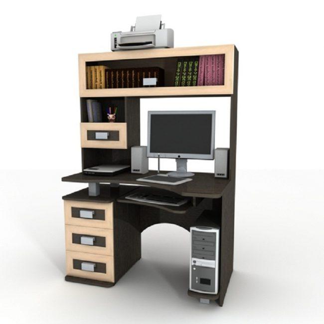Компьютерный стол с надстройкой