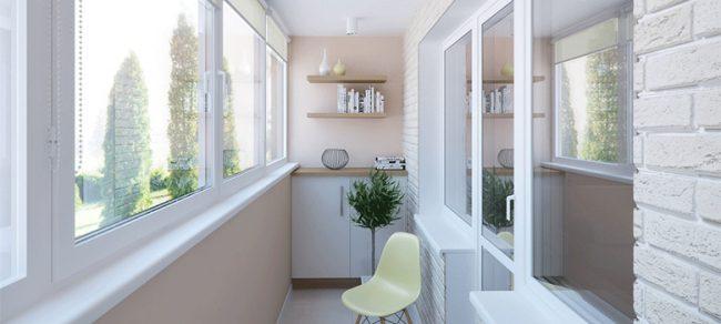 Средиземноморский стиль в отделке балкона