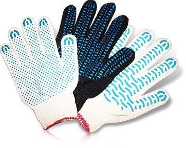 трикотажные рабочие перчатки