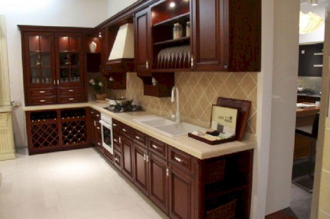 кухня из натуральных материалов