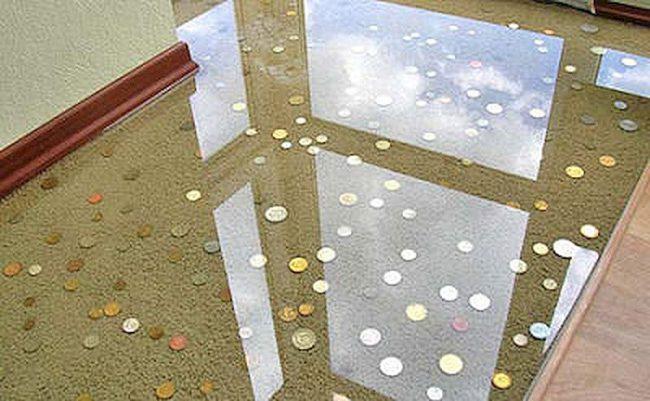 полиуретановый пол прозрачный в коридоре