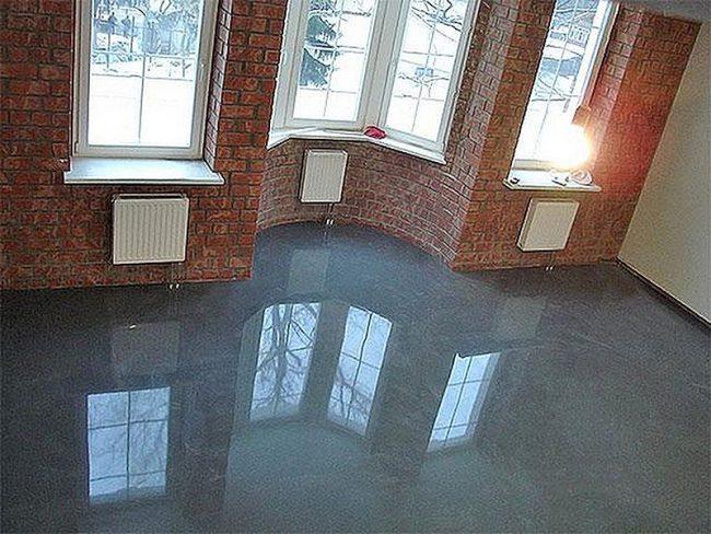 Полиуретановый пол в жилом помещении