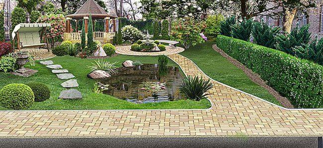 ландшафтный дизайн при проектировании дома