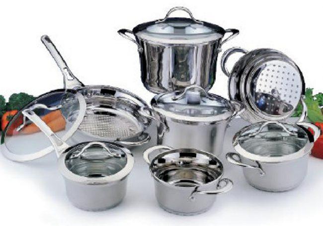 набор посуды из нержавейки