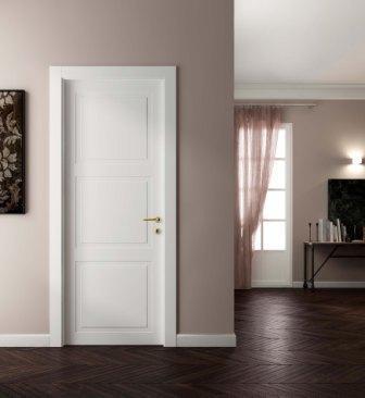 Дверь Волховец белая в интерьере