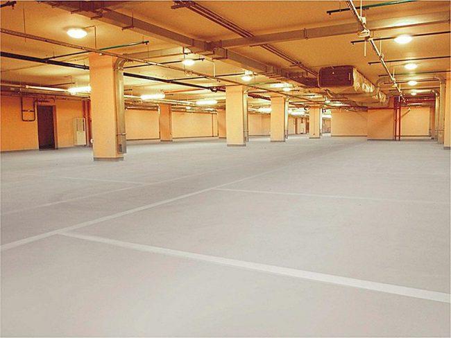 идеальный бетонный промышленный пол